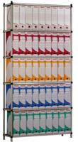 Rayonnage d'appoint de bureau - Avec 6 isobois naturel - Élément suivant H 1000 x P x 300 x L 1800 mm