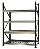 Rayonnage mi-lourd - Élément suivant - 4 niveaux de lisses - Panneaux agglomérés - H 2500 x P 800 mm - Lisses L 2000 mm