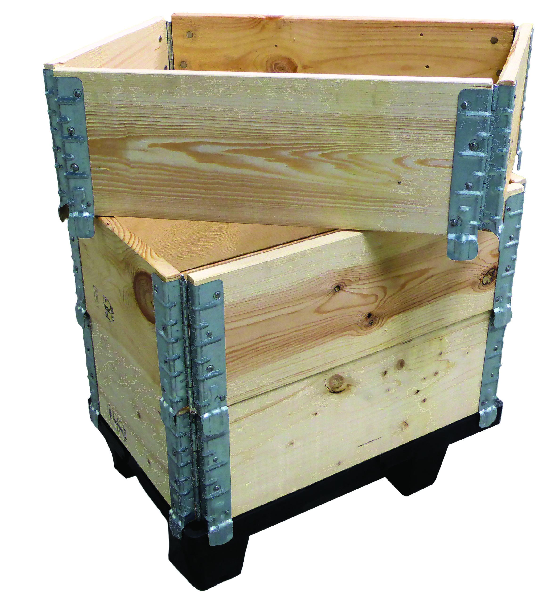 Réhausse pliante en bois pour palette charge : 1000 kg - dimensions : 1000 x 1200 mm